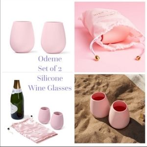 NWT Odeme Silicone Wine Glassses Set of Two